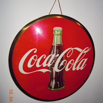 "1950's Coca-Cola 9"" Celluloid Sign"