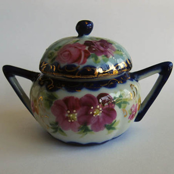 Pretty Little Mustard Pot - Asian