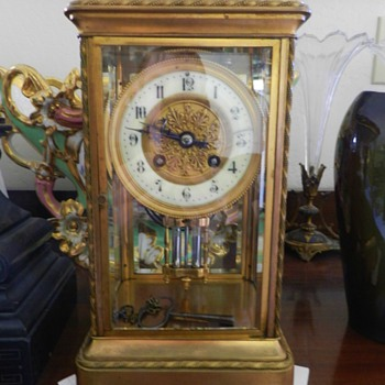 Tiffany & Co Gilded Mantle Clock