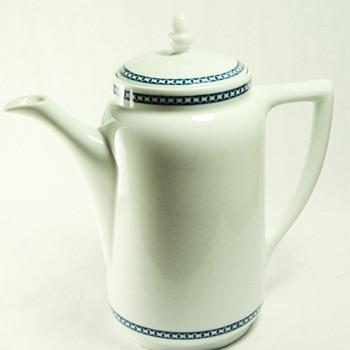 Rosenthal Blue Band Tall Tea Pot - China and Dinnerware