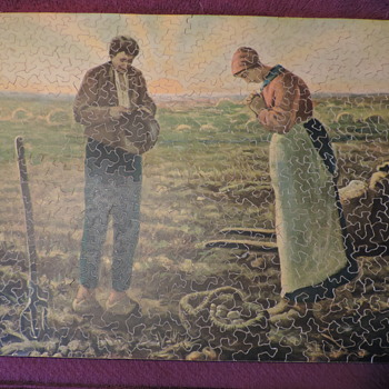 "Wood Jigsaw "" The Angelus"" Interlocking 16"" x12"" x 1/8"""
