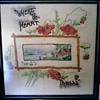 "Antique Needlework with Hand Painting  / ""Where The Heart Dwells"" / Circa 1906"
