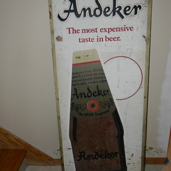 Vintage Andeker barn sign