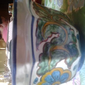 pretty talavera style planter - Art Pottery