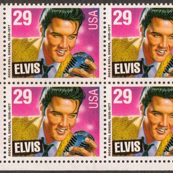 1993 - Elvis Presley Postage Stamps (block of 6) - Stamps