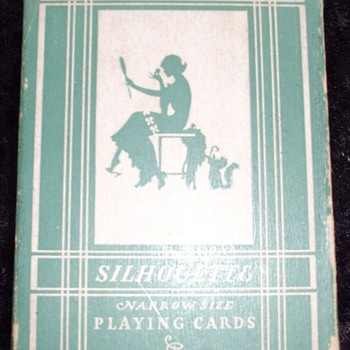 Aristocrat Silhouette Linen Finish, Rare??? - Cards