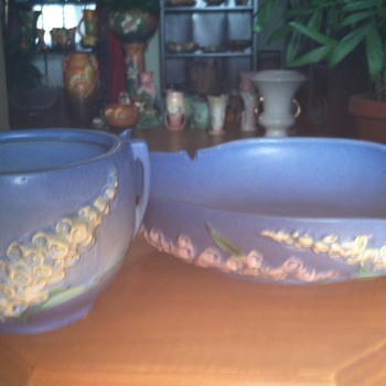 Roseville Blue Foxglove - Art Pottery