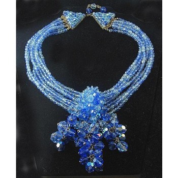 Rare COPPOLA e TOPPO ITALY Crystal Necklace BIJOUX LO-SA Prototype - Costume Jewelry