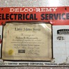 Delco-Remy Automotive Electrical Equipment certification.