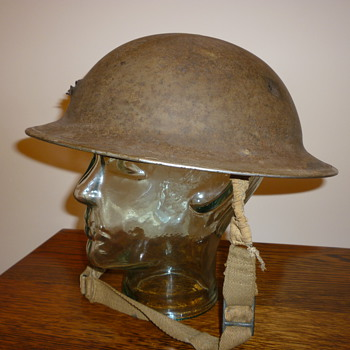 British WWII steel helmet from Dunkirk. - Military and Wartime