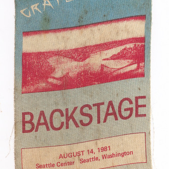 Grateful Dead stage pass, 1981 - Music