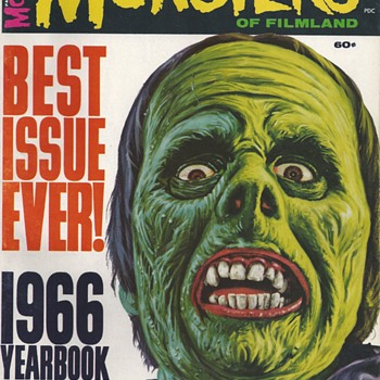 Famous Monster of Filmland, YearBook 1966, circa 1966,HAPPY HALLOWEEN  - Paper