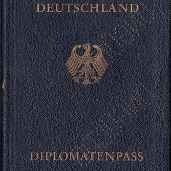 1957 German diplomatic passport  - Paper