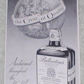 1954 Ballentines Scotch Advertisement 2 - Advertising