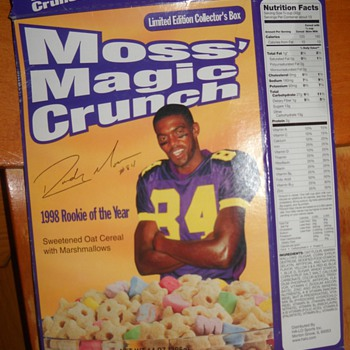 Randy Moss Magic Crunch Cereal Box
