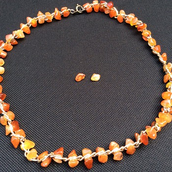 Unusual stone necklace - Costume Jewelry