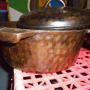 Unmarked Hammered Cast Iron