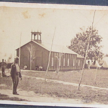 Wartime photo of Chapel near Officer's Hospital, Fortress Monroe, Va.