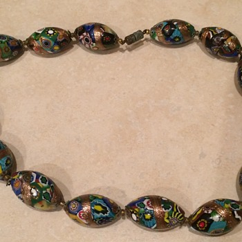 Murano Glass Bead Necklace - Costume Jewelry