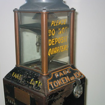 "Johnson Trolley or Bus ""D"" Farebox"