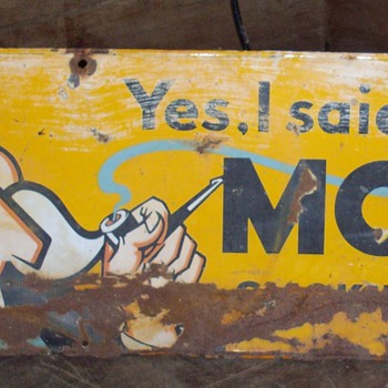 Model sign. - Advertising