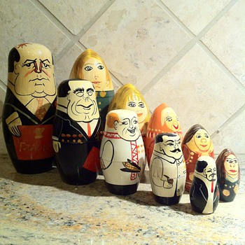 Matryoshka Russian Leaders & Women Dolls - Folk Art