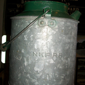 Nickel Plate Railroad water can