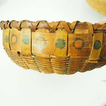 Antique Basket with Painting