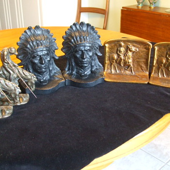 More of my NATIVE AMERICAN BOOKENDS Collection - Books