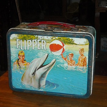 flipper Lunch Box by Thermos 1966