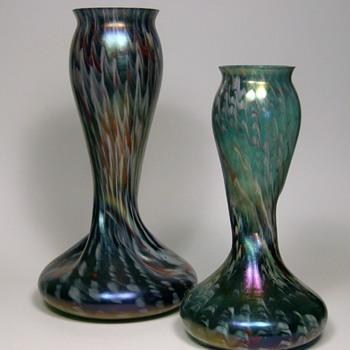 Pair of Rindskopf Confetti Vases