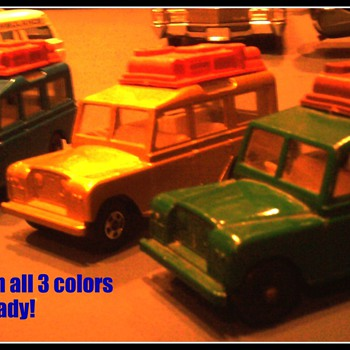 Land Rovers by Matchbox were offered in 3 colors...