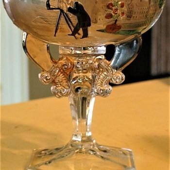"Shriners/Masonic Syria Temple ""1911 Rochester NY"" Souvenir Champagne Glass - Glassware"
