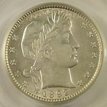 "1892-O U.S. Barber Quarter ""1st Year of Issue"" - US Coins"