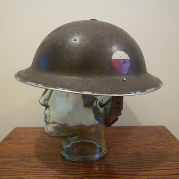 British (Possibly Polish Brigade?) WWII steel combat helmet. - Military and Wartime