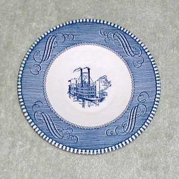 "Currier & Ives ""Steamboat"" Plate"