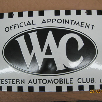WAC - Western Automobile Club - Advertising