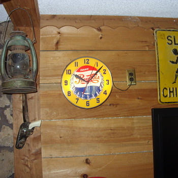 swihart lighted pepsi clock
