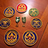 Boy Scout patches and medals