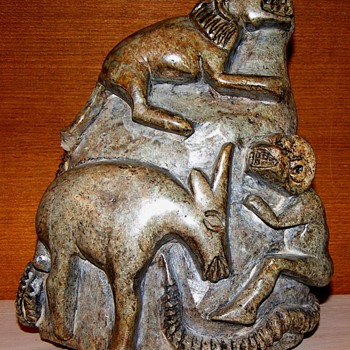 Primative African Carved Soapstone