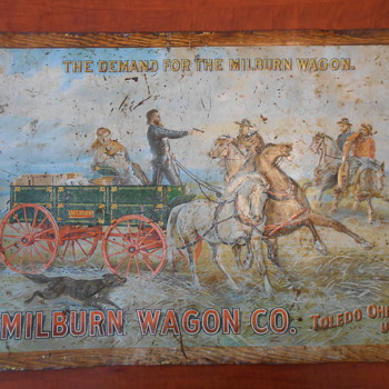 Milburn Wagon Co. Metal Sign - Signs