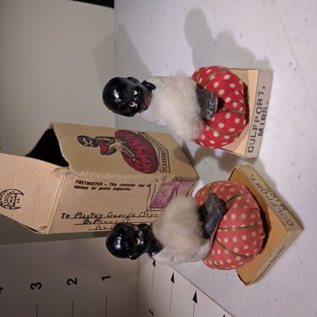 1940 Black American Pickaninny Dolls with one orignal box