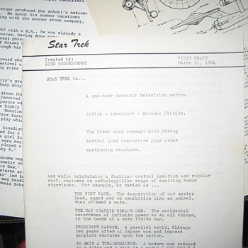 Star Trek 1964 First Draft