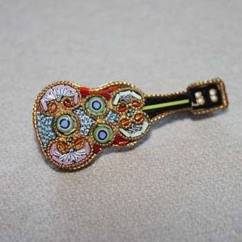 Micro Mosaic Brooch Made in Italy - Fine Jewelry