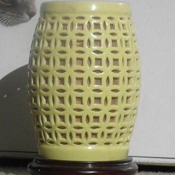 Yellow Retro Lattice Lamp! :)