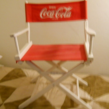 CocaCola wooden directors chair
