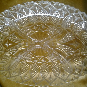 star of bethlehem eapg glass dish? - Glassware