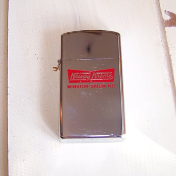 zippo w/Krispy Kreme logo (winston-salem, NC) - Tobacciana