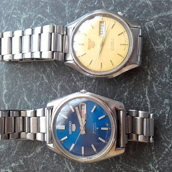 Seiko 5 watches x 2.