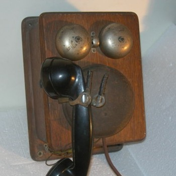 Western Electric Metal Round Wall Phone